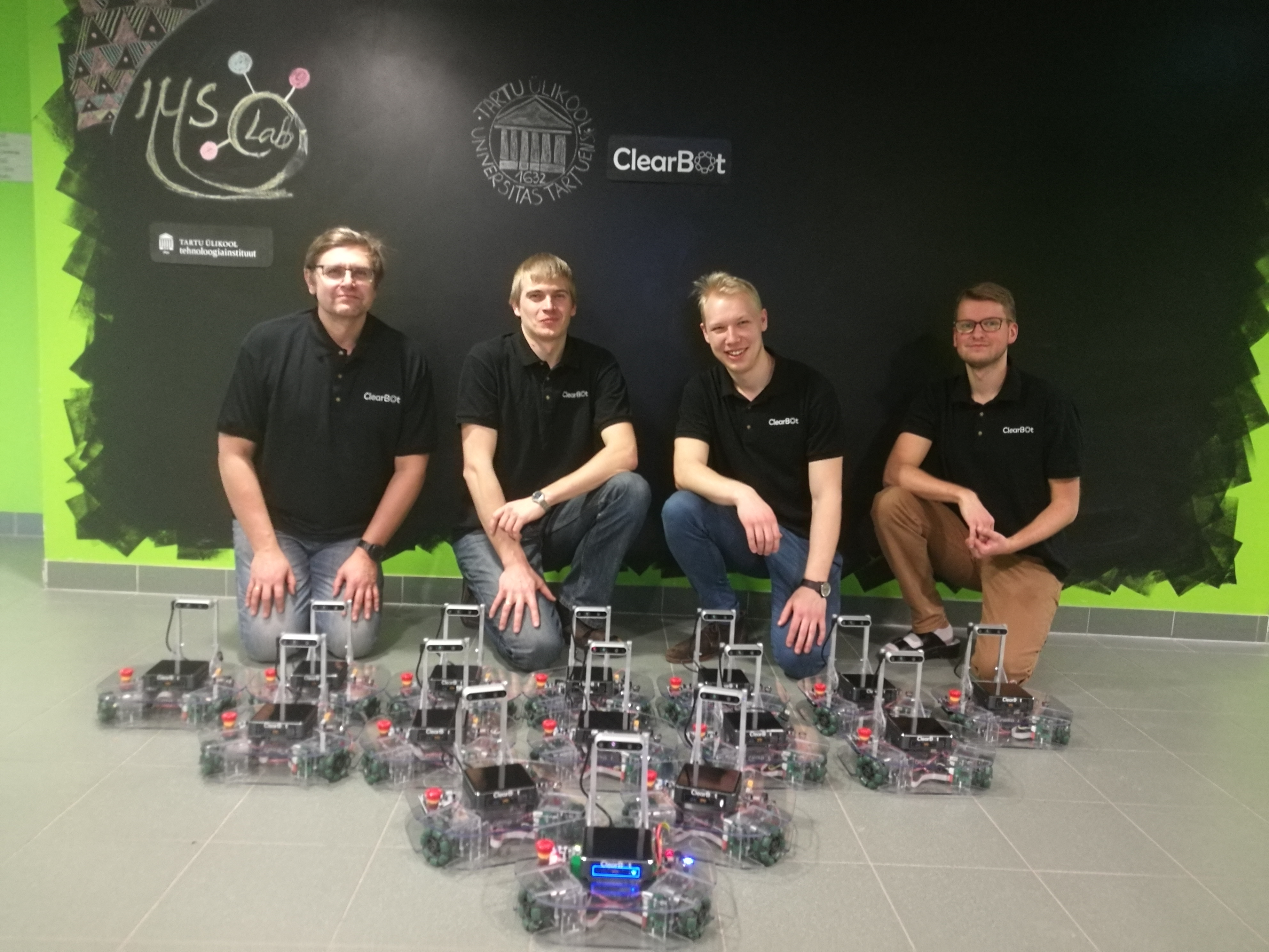 Team Picture- giving away our first order to the University of Tartu